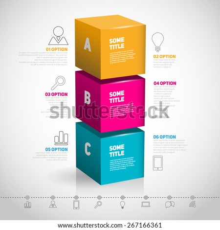 cube vector template for