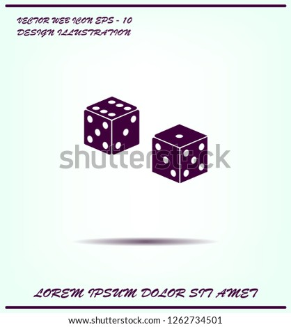 Cubes for the game vector icon.