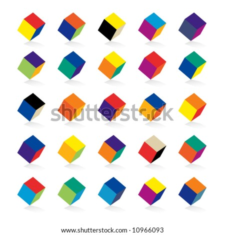 cubes in various combinations