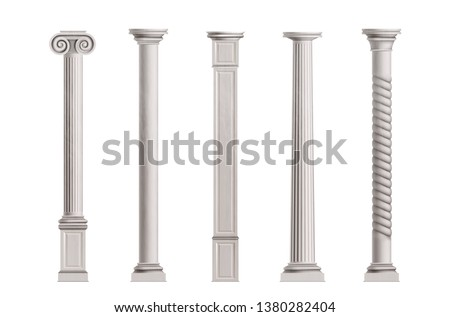 cubic and cylindrical columns