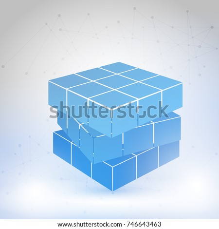 cubic constructed of many