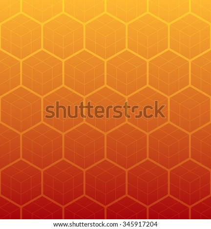 cubic pattern hexagons pattern