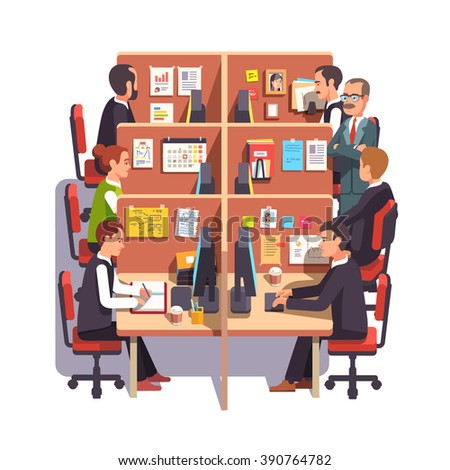 stock-vector-cubicle-office-work-space-with-employees-at-the-desks-and-supervising-boss-flat-style-color-modern-390764782.jpg