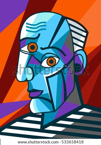 cubist great painter face