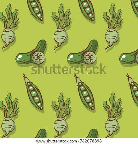 Cucumber and radish background #762078898