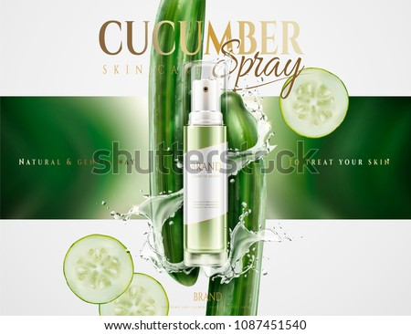 cucumber skin care spray with