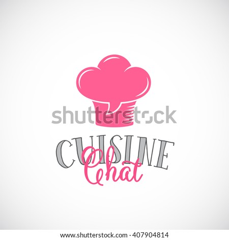 cuisine chat abstract vector