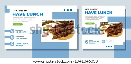 Culinary Food Landing Page Website and Social Media Post Template With Minimalist and Elegant Style. Clean. Modern. Sale. Ads Banner. Cover. Flyer. Feed. Card. Design. Facebook. Instagram. Youtube.