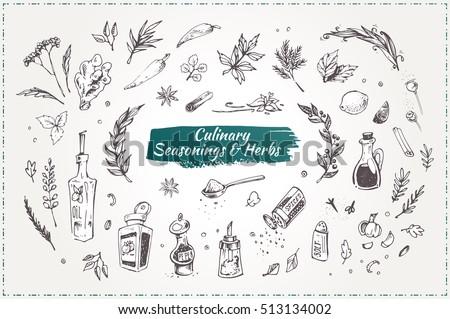 culinary seasonings and herbs....