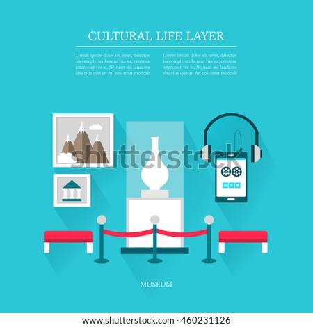cultural life Museum layer set