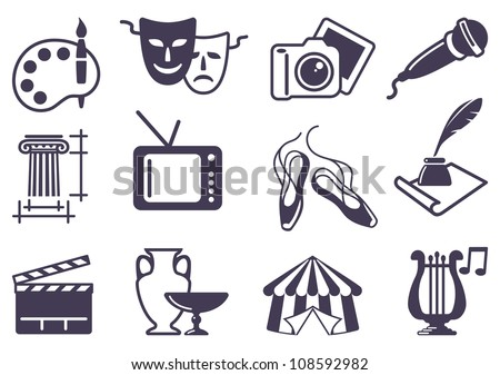 Culture and Art vector icons