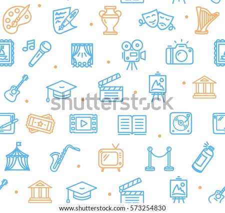 Culture and Creative Fine Art Background Pattern on White Design for Web. Vector illustration