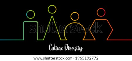 Culture diversity, social diversity, inclusion and diversity infographic vector set, people vector logo for website