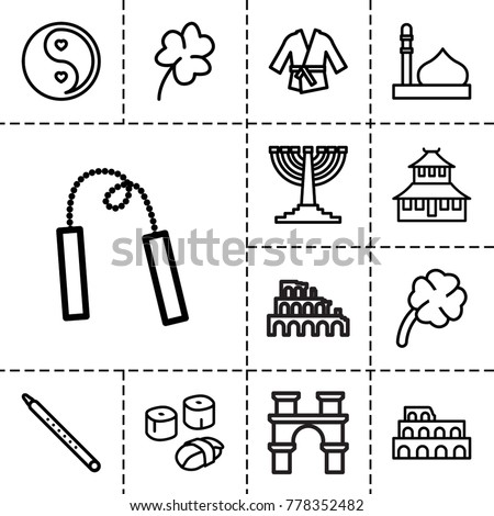 culture icons set of 13