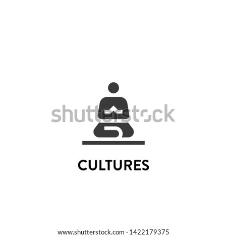 cultures icon vector. cultures vector graphic illustration