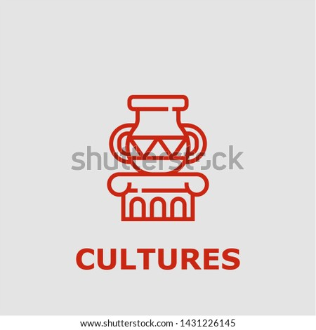 Cultures symbol. Outline cultures icon. Cultures vector illustration for graphic art.