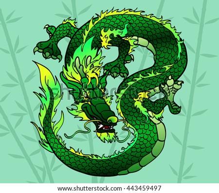 cunning green wood asian