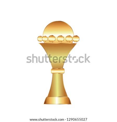 Cup, gold award vector illustration