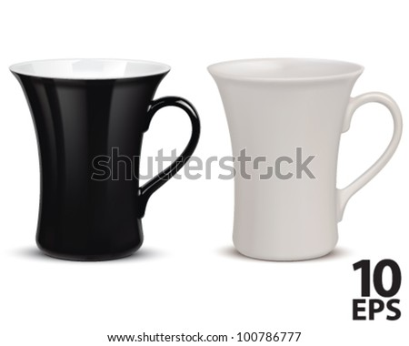 Cup isolated on white. Vector illustration