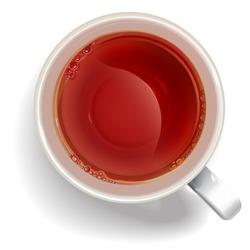 Cup of black tea. illustration vector.