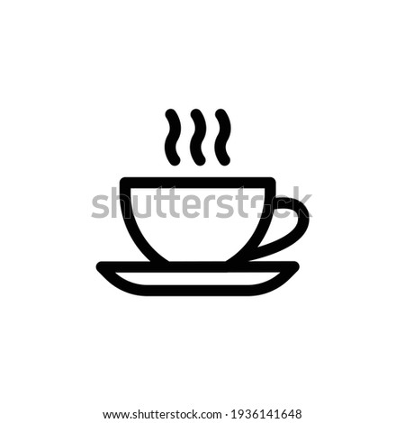 Cup of coffee icon. Cup flat icon. Thin line signs for design logo, visit card, etc. Single high-quality outline symbol for web design or mobile app. Cup outline pictogram.