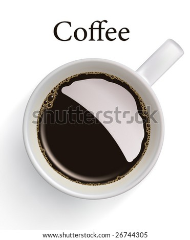 Cup of coffee. VECTOR, contains gradient mesh elements, lot of details! - stock vector