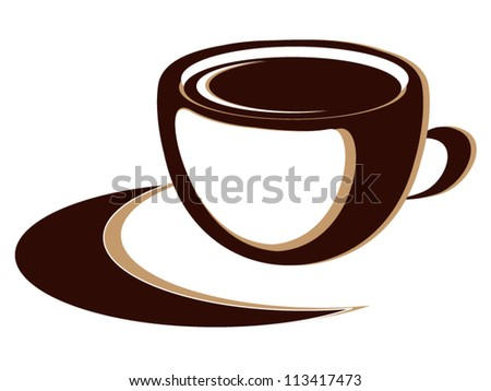 Cup of hot coffee or tea drink