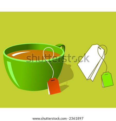 cup of tea. stock vector : Cup of tea and