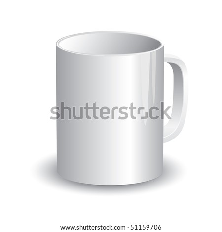 Cup Template (vector). In the gallery also available XXL jpeg version of this image.