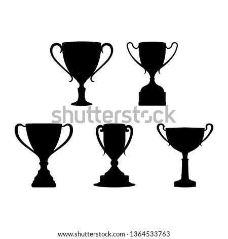 Cup winners of competitions or competitions, flat design