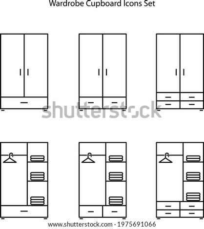 cupboard icon isolated on white background from furniture collection. cupboard icon trendy and modern cupboard symbol for logo, web, app, UI. cupboard icon simple sign. wardrobe clothes Stock photo ©