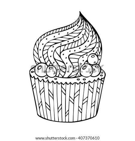 cupcake coloring for adults