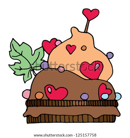 Cupcake, hand drawn illustration