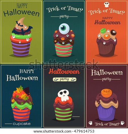 cupcake happy halloween scary
