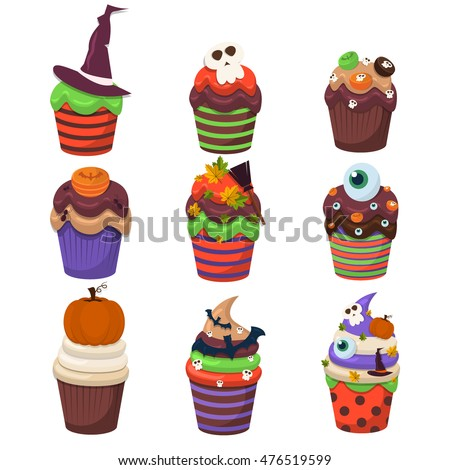 cupcake happy halloween scary