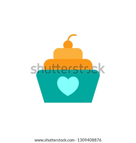 Cupcake icon. Element of Valentine day icon for mobile concept and web apps. Detailed Cupcake icon can be used for web and mobile