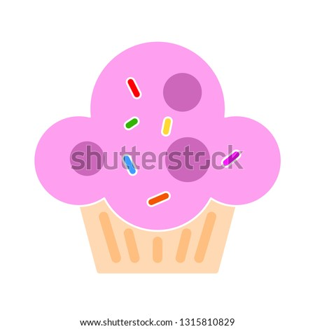 stock-vector-cupcake-icon-flat-illustration-of-sweet-muffin-birthday-cake-isolated-on-white-background