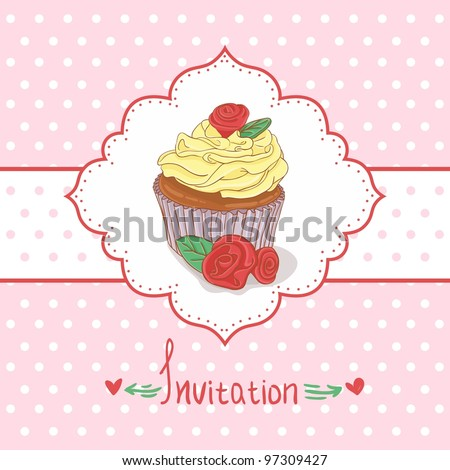 cupcake invitation background ez canvas