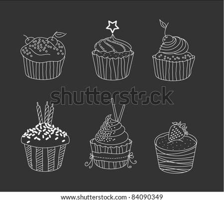 Cupcakes outlines