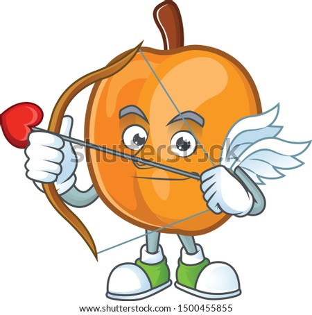 Cupid apricot cartoon character for nutritious maskot