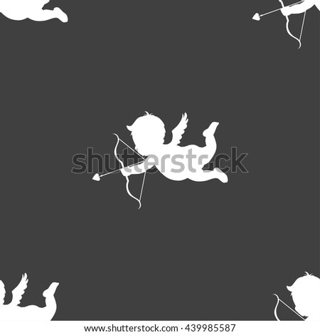 cupid icon sign seamless