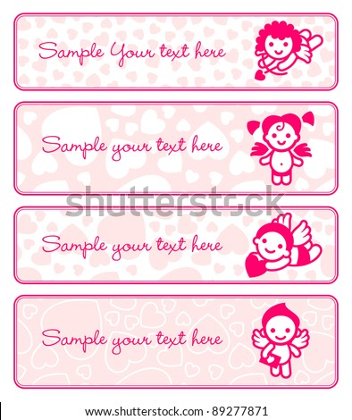 cupids banner set  collection
