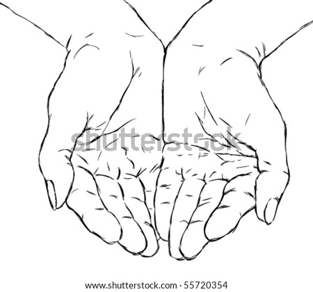 Cupped Hands Tattoo