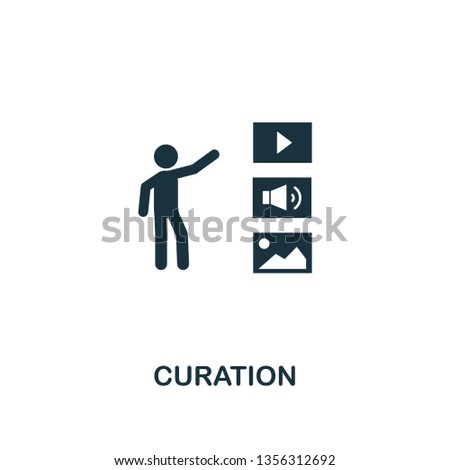 Curation icon. Creative element design from content icons collection. Pixel perfect Curation icon for web design, apps, software, print usage