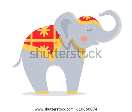 cure elephant in ornamented