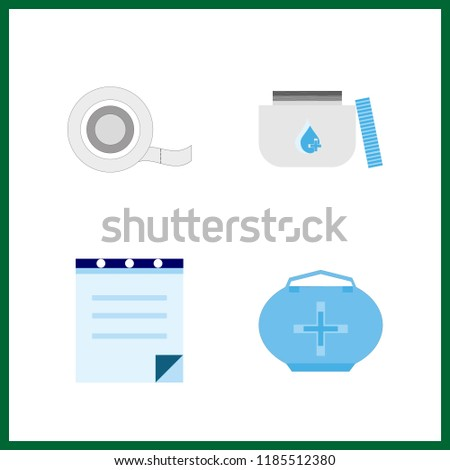 cure icon. medical tape and medicine vector icons in cure set. Use this illustration for cure works.