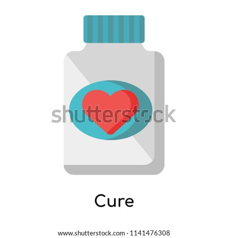 Cure icon vector isolated on white background for your web and mobile app design, Cure logo concept