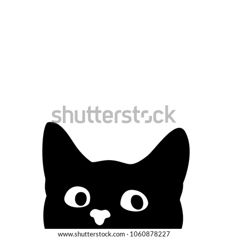 stock-vector-curious-cat-hides-and-peeps-sticker-on-a-car-or-a-refrigerator