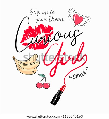 stock-vector-curious-girl-slogan-with-girly-icons-illustration