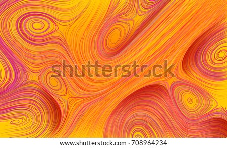 Curled line pattern. Abstract vector background. Twisted stripes texture. Motion flow psychedelic vortex illusion